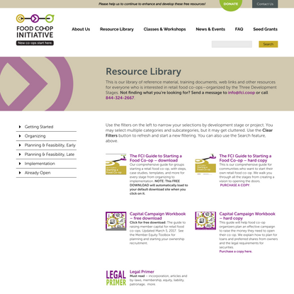 Resource Library | Food Co-op Initiative