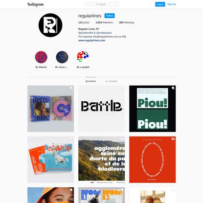 Regular Lines TF (@regularlines) on Instagram • 112 photos and videos