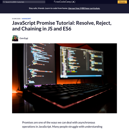 JavaScript Promise Tutorial: Resolve, Reject, and Chaining in JS and ES6