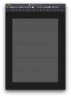 10Print AppleScript in TextEdit