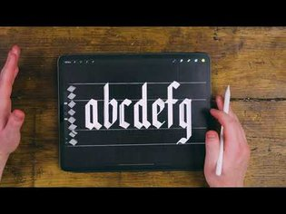 Black Letter Gothic Calligraphy Tutorial 2020