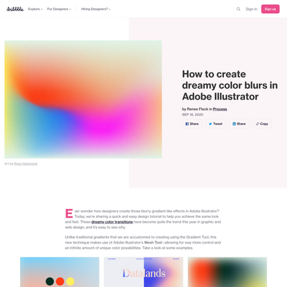How to create dreamy color blurs in Adobe Illustrator