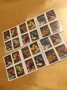 usps fruit & vegetable stamps