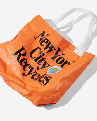 """Only NY's Instagram profile post: """"New DSNY and Parks 100% polypropylene shopping bags releasing today at 12pm EST. A perfec..."""