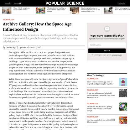 Archive Gallery: How the Space Age Influenced Design
