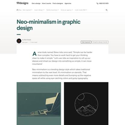 Neo-minimalism in graphic design - 99designs
