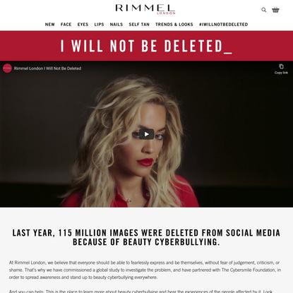 Beauty Cyberbullying | Rimmel London
