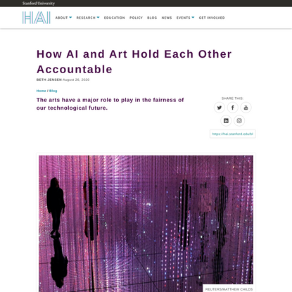 How AI and Art Hold Each Other Accountable