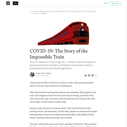 COVID-19: The Story of the Impossible Train