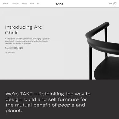 TAKT furniture | High-quality design to more people | TAKT