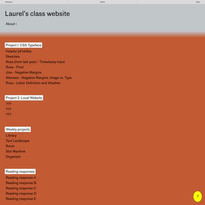 Laurel's class website