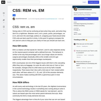 CSS: REM vs. EM