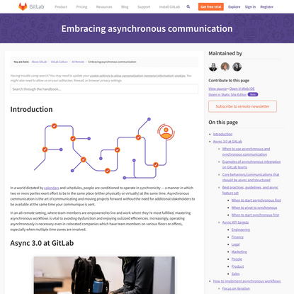Embracing asynchronous communication