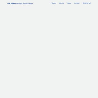 And A Half — Branding & Graphic Design