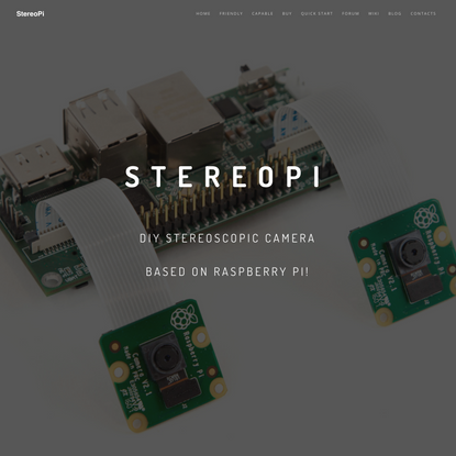 StereoPi | StereoPi - DIY stereoscopic camera based on Raspberry Pi
