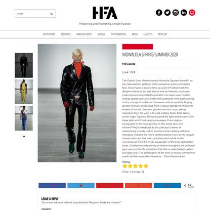 Mowalola Spring/Summer 2020 - Haute Fashion Africa (HFA)