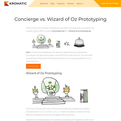 Concierge vs. Wizard of Oz Prototyping - What's the Difference?