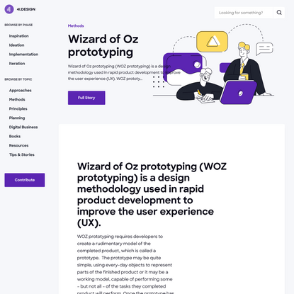 Wizard of Oz prototyping — The 4I.Design