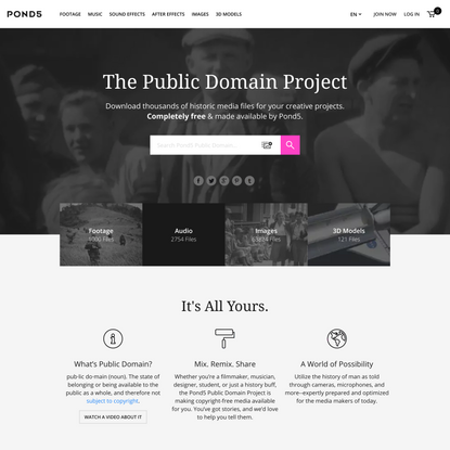 Public Domain ~ Free Media for Creative Projects   Pond5