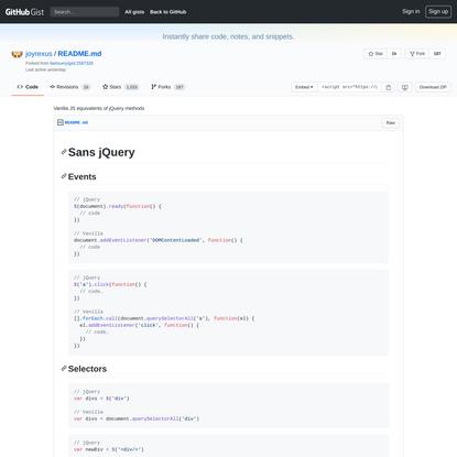 Vanilla JS equivalents of jQuery methods