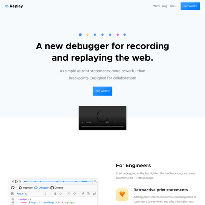 Replay: Record and replay web applications