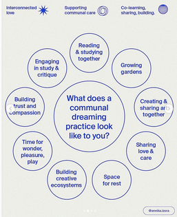 what does a communal dreaming practice look like to you? @annika.izora
