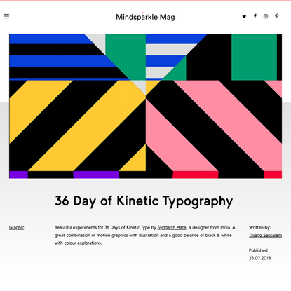36 Day of Kinetic Typography - Mindsparkle Mag