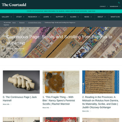 Continuous Page: Scrolls and Scrolling from Papyrus to Hypertext - The Courtauld Institute of Art