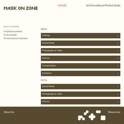 mask on — anti surveillance protest guide