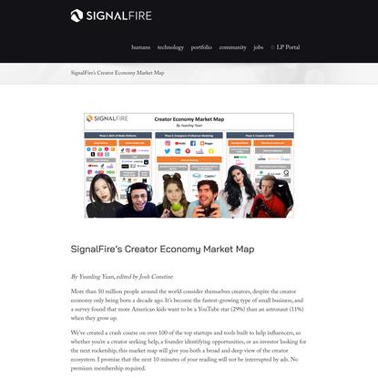 SignalFire's Creator Economy Market Map - SignalFire