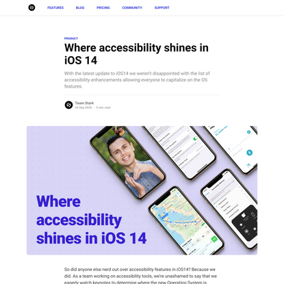 Where accessibility shines in iOS 14