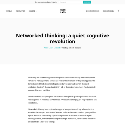 Networked thinking: a quiet cognitive revolution - Ness Labs