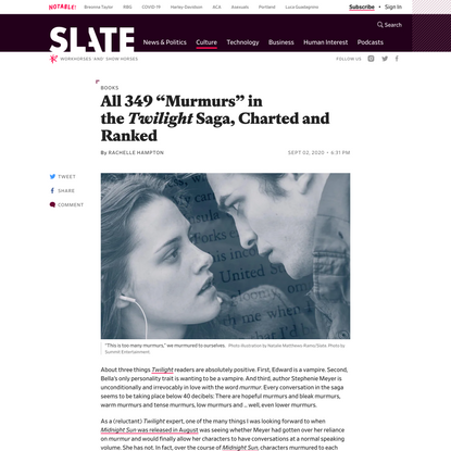"""All 349 """"Murmurs"""" in the Twilight Saga, Charted and Ranked"""