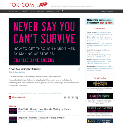 Never Say You Can't Survive – Tor.com