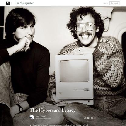 The Hypercard Legacy