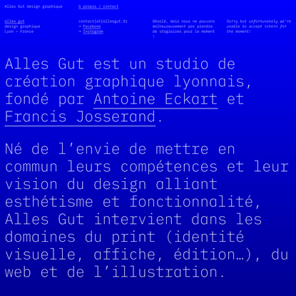 Alles Gut — à propos / contact