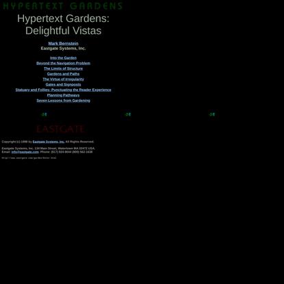 Hypertext Gardens