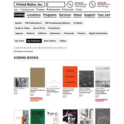 Koenig Books - Printed Matter