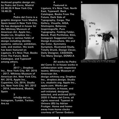 Archived graphic design etc. by Pedro del Corro