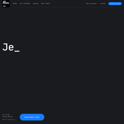 JetBrains Mono: A free and open source typeface for developers | JetBrains: Developer Tools for Professionals and Teams