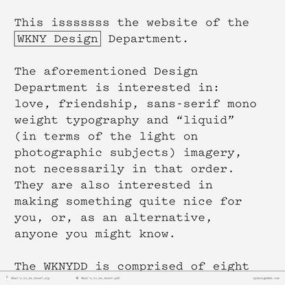 WKNY Design Deptartment