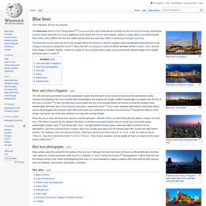Blue hour - Wikipedia