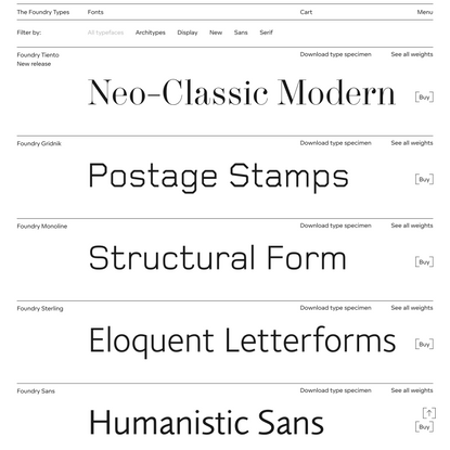 Fonts Archive - The Foundry Types