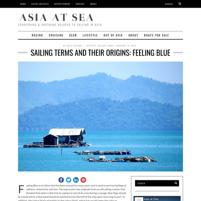 Sailing Terms and Their Origins: Feeling Blue