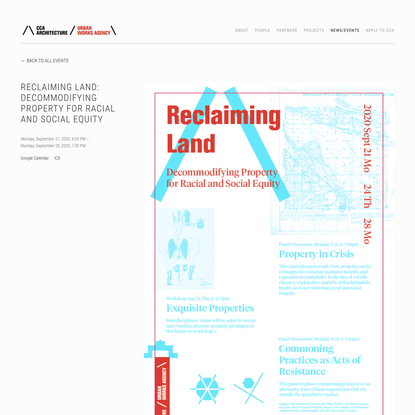 Reclaiming Land: Decommodifying Property for Racial and Social Equity — Urbanworksagency