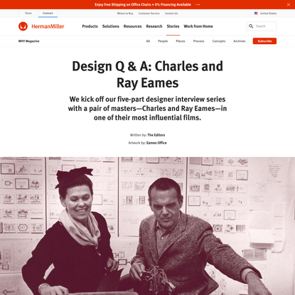 Design Q & A: Charles and Ray Eames
