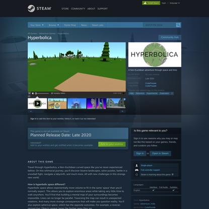 Hyperbolica on Steam