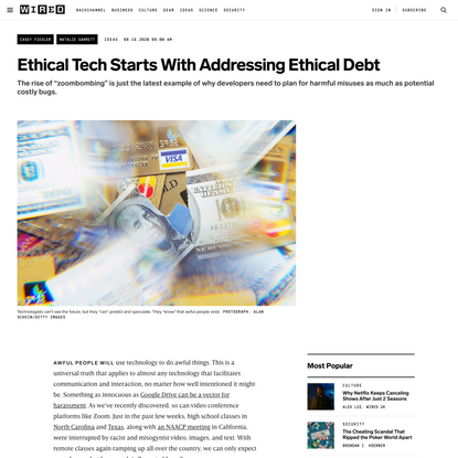 Ethical Tech Starts With Addressing Ethical Debt