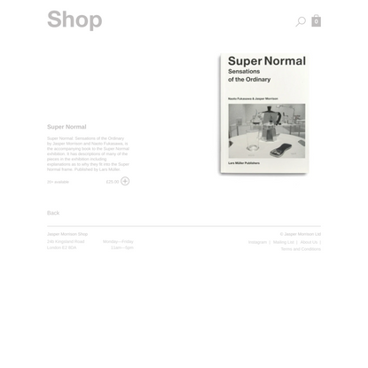 Super Normal | Jasper Morrison Shop