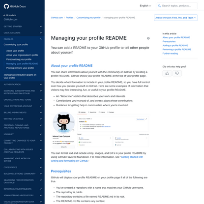 Managing your profile README - GitHub Docs